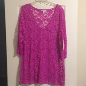 Boutique Super Soft Lace Tunic
